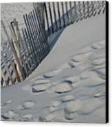 New England Footprints Canvas Print by Gene Sizemore