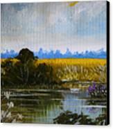 New Jersey Marsh Canvas Print by Karon Melillo DeVega