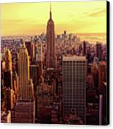New York - Magic Hour At Top Of Rock Canvas Print by Matt Pasant
