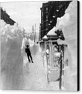 New York: Blizzard Of 1888 Canvas Print by Granger