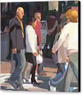 New York Crosswalk Canvas Print by Merle Keller