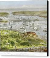 New York Harbor, 1872 Canvas Print by Granger