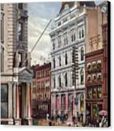 New York Stock Exchange In 1882 Canvas Print by Everett