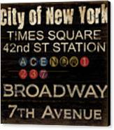 New York Subway Canvas Print by Grace Pullen