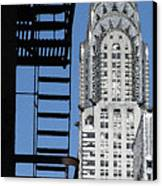 New York Watercolor 3 Canvas Print by Andrew Fare