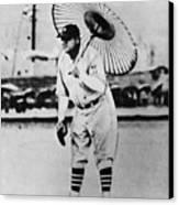 New York Yankees. Babe Ruth, Holding Canvas Print by Everett