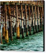 Newport Beach Pier Close Up Canvas Print by Mariola Bitner