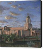 Newport Beach Temple Canvas Print by Jeff Brimley