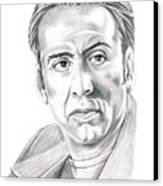 Nicolas Cage Canvas Print by Murphy Elliott