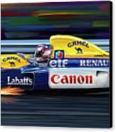 Nigel Mansell Williams Fw14b Canvas Print by David Kyte