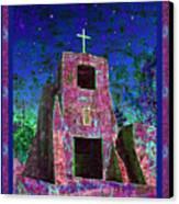 Night Magic San Miguel Mission Canvas Print by Kurt Van Wagner
