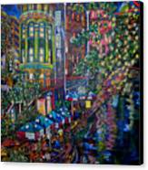 Night On The River Canvas Print by Patti Schermerhorn