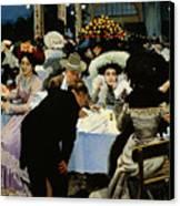 Night Restaurant Canvas Print by MG Slepyan