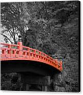 Nikko Red Bridge Canvas Print by Naxart Studio