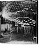 Nikola Tesla 1856-1943 Created A Double Canvas Print by Everett