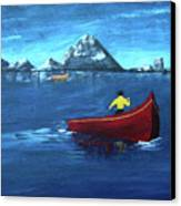 No Paddle Canvas Print by Donna Blackhall