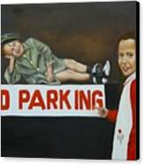 No Parking Canvas Print by Joni McPherson