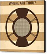 No055 My O Brother Where Art Thou Minimal Movie Poster Canvas Print by Chungkong Art