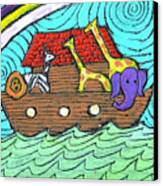 Noahs Ark Two Canvas Print by Wayne Potrafka