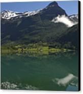 Norway, Briksdal Glacier At Jostedal Canvas Print by Keenpress