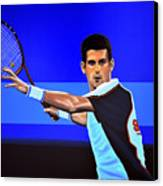 Novak Djokovic Canvas Print by Paul Meijering