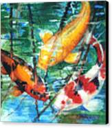 November Koi Canvas Print by Patricia Allingham Carlson