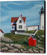Nubble Light House Canvas Print by Paul Walsh