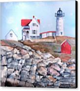 Nubble Lighthouse - Maine Canvas Print by Arline Wagner