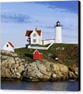 Nubble Lighthouse Canvas Print by John Greim