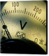 Numbers On The Dial Of A Voltmeter Canvas Print by Sami Sarkis