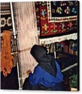 Nun Knotting Carpet Canvas Print by Sarah Loft