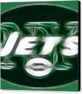 Ny Jets Fantasy Canvas Print by Paul Ward