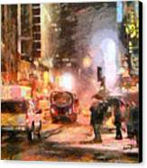 Nyc At Night Canvas Print by Anthony Caruso