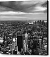 Nyc Manhattan Panorama Canvas Print by Nina Papiorek