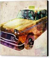 Nyc Yellow Cab Canvas Print by Michael Tompsett