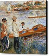 Oarsmen At Chatou Canvas Print by Pierre Auguste Renoir