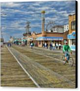Ocean City Boardwalk Canvas Print by Edward Sobuta