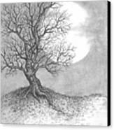October Moon Canvas Print by Adam Zebediah Joseph