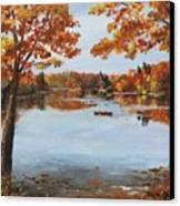 October Morn At Walden Pond Canvas Print by Jack Skinner