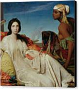 Odalisque Canvas Print by Francois Leon Benouville