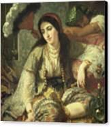 Odalisque Canvas Print by Jean Baptiste Ange Tissier