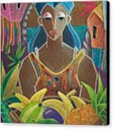 Ofrendas De Mi Tierra Canvas Print by Oscar Ortiz
