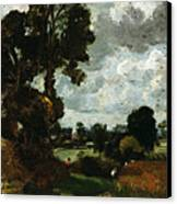 Oil Sketch Of Stoke-by-nayland Canvas Print by John Constable