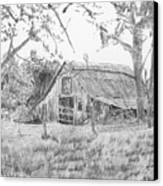 Old Barn 2 Canvas Print by Barry Jones