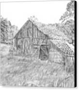 Old Barn 3 Canvas Print by Barry Jones