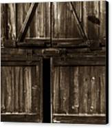 Old Barn Door - Toned Canvas Print by Paul W Faust -  Impressions of Light
