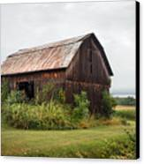 Old Barn On Seneca Lake - Finger Lakes - New York State Canvas Print by Gary Heller