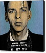 Old Blue Eyes - Frank Sinatra Canvas Print by Bill Cannon