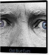 Old Blue Eyes Poster Print Canvas Print by James BO  Insogna