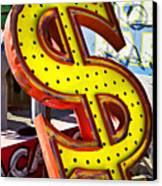 Old Dollar Sign Canvas Print by Garry Gay